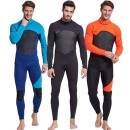 Wholesale Men's Full Body Wetsuit 3mm Men Neoprene Long Sleeves Dive Suit - Perfect for Swimming Scuba Diving Snorkeling Surfing Orange