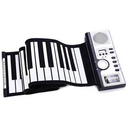 61 Keys Roll Up Piano Digital Flexible Silicone Folding USB Electronic Keyboard Easy To Take MIDI Keyboard Musical Instrument on Sale