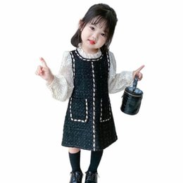 spring baby clothing Australia - Girls Dresses Kids Dress Spring Lace Long Sleeve Princess Baby Clothes Fashion Casual Children Clothing SM053