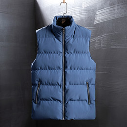 Wholesale plus size peplum coat resale online - Men Vest Men Winter Jackets Vests Man Thick Sleeveless Coats Male Warm Padded Waistcoat Fashion Plus Size Men Gilet