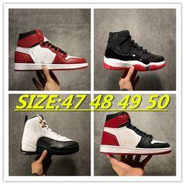 Basketball shoes Jumpman 1s sports Retro 11s 12s Mens Hyper Royal University Blue Taupe Haze Fire Red Starfish Metallic Purple Black Cat size 36-46 47 48 49 50 With Half
