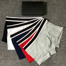 Wholesale underwears resale online - New Mens Boxer Briefs Men Underpants Sports Man UnderPanties Sexy Cotton Underwear Male Breathable Cotton Underwears With box