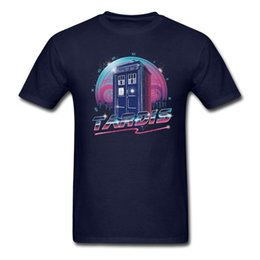 driving t shirts Australia - Man Offivial Rad Tardis T Shirts Organizer Man Black T-shirt Totally and Radically Driving in Space Short-sleeve Tee Low Price