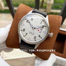 Wholesale 2021 high quality big pilot classic mark XVII men watches leather joker international wristwatches 2824 movement pilots mens watch D1025