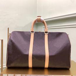 Унисекс женщин мужчины 3 размера 45 50 55см Классическая дополнительная большая сумка для путешествий покрыла холст с цветочным принтом и проверять модную сумку Duffle на Распродаже