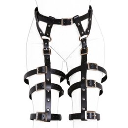 female restraint belt 2021 - Adjustable PU Leather Female Chastity Belt Leg Harness Bondage Restraints Waist Straps Adult Games Slave Bdsm sexy Toys