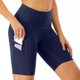 venda por atacado Ioga ginásio alta cintura shorts esporte fitness yoga treino running calças mulher verão silo leggings mulheres