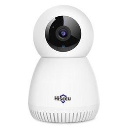 Автомобильный трек PAN / TILT, HISEU 3MP HOOK COODER HOME CAMERY Двухстороннее аудио, умный детский монитор, IR ночное видение, подходящая система беспроводной камеры наблюдения на Распродаже