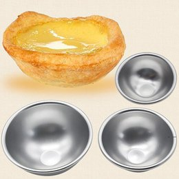 Round Aluminium Alloy Bath Bomb Molds DIY Cake Tart Pudding Candle Tool Salt Ball Homemade Crafting Gifts Semicircle Sphere Mold EWC6231 on Sale