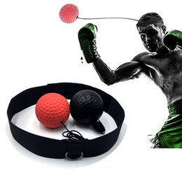 Wholesale Elasticity Head Band Wearing Boxing Equipment Fight Ball Training Speed Ball Muay Thai Trainer Quick Punching Top Quality 219 X2