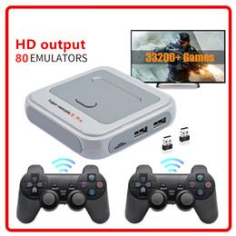 Super Console X Pro HD 4K HDTV Salida 64G / 128G Mini consola portátil Arcade Kids Retro juego Emulator Console Can Store 40000 juegos en venta