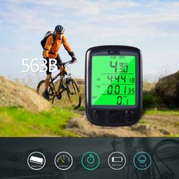 Wholesale Waterproof Bicycle Odometer Bike Computer LCD Display Cycling Speedometer with Green Backlight SD-563A