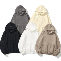 FOG Warm Hooded Fear Of God Pure Color Hoodies Mens pullover Womens Fashion Streetwear Sweatshirts Loose Lovers oversize Tops Clothing