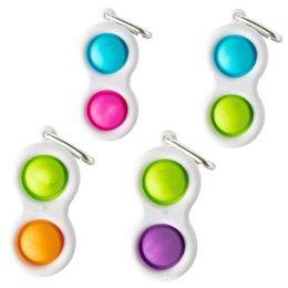Wholesale push bubble keychain Детские взрослые Новин Fidget Простой Игрушка Fidget Toys Ключные кольца Пальца Пузырь Игрушки Сумки Подвески H34NST5 на Распродаже