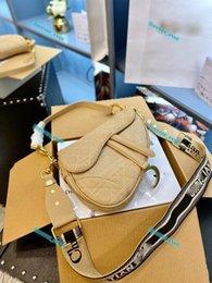 Top luxe Genuine Leather 25cm Saddle bag top high quality women Crossbody bag Designered shoulder bag handbag wallet clutch totes forever on Sale