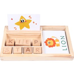 spelling puzzle Australia - Wooden Letters Puzzle Educational Toy Matching Letter Alphabet Spelling Card Games for Kids NSV775 Q0313