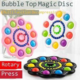 Опт Декомпрессия пальца пузырь волшебный блюдо гироскоп волшебный диск плоский шар Tik tok push bubble сенсорный пионер цепь ключа cy14