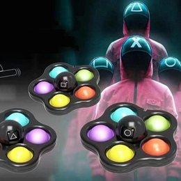 Squid Gra Fidget Zabawki Flip Twarzy Zmiana Push Toy Bubble Silikonowy Key Chain Palce Gyro Decompression Creative Game Sensory Labe Stres reliever