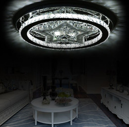 led luminaire design 2021 - Modern Star Design Acrylic And Stainless Dimmable Led Ceiling Lamp Lustre K9 Crystal Luminaire Led Ceiling Lights For Foyer