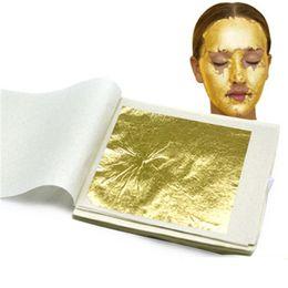 Wholesale Face Beauty Gold Foil Facial Mask Gold Content 98 Real Gold Foil 9.33 Golden Foil Beauty Face Mask