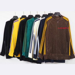 Wholesale corduroy pants man resale online - Man designers Jackets and Pants butterfly Brand clothes mens tracksuit mens jacket Hoodie Or pants men s clothing Sport Hoodies tracksu