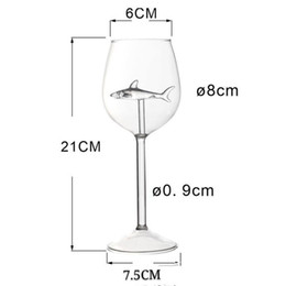 Discount grape wine glasses Transparent Goblet Original Elegance Red Wine Grape Standing Cup High Borosilicate Fashion Shark Woman Man Glass Home 10