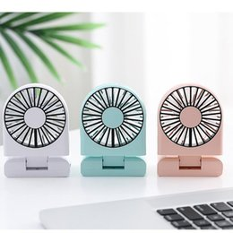 personal cool fan NZ - Mini Portable Personal Desk Fan Usb Rechargeable Foldable Neck Fan With Lanyard Silent Personal Air Cooler For Home Offic#g30