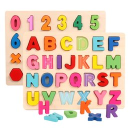letters puzzle 2021 - Kids Wooden 3D Alphabet Number Puzzle Baby Colorful Letter Digital Geometric Educational Toy For Toddler Boy Girl Gift L0226