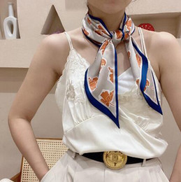 2021 new style ribbon, silk scarves ladies scarf with hand gifts scarf(minimum quantity:12 pieces)
