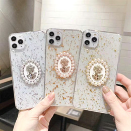 iphone 3d mais caso de bling venda por atacado-Luxo D Bling Glitter Lantejoulas Phone Case para iPhone PRO SE XS MAX XR X Plus Goddess Avatar Pearl Transparente Tampa Suave