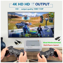 tv video game system UK - Super Console X Pro HD WiFi Output Mini TV Video Game Player For PSP PS1 N64 DC Games Dual System Built-in 50000+ Games