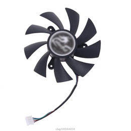geforce cooling fan Canada - 75mm 85mm 4pin Cooler Video Card Cooling Fan for iGame GeForce GTX 1070Ti 1080 1050 1060 Ja25 21 Dropship