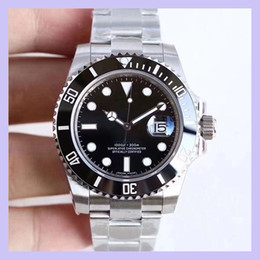 Wholesale U1 Factory ST9 Ceramic Bezel Black Sapphire Date Stainless Steel 40mm Automatic Mechanical Stainless Steel Mens Men 116610 Wristwatches