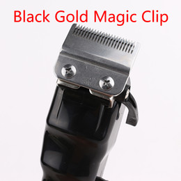 Wholesale 2021 black gold magic Men Electric Hair Clippers Cordless Adult Razors Professional Local barber hair trimmer Corner Razor Hairdresse Good