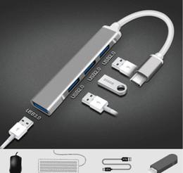 Wholesale USB HUB Type C 4 Port Multi Splitter Adapter OTG For Lenovo Macbook Pro Air Pro PC Docking Station Splitter Computer Accessories