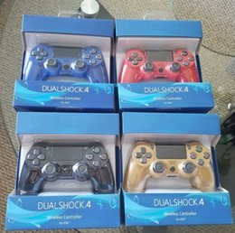 Wholesale Wireless Bluetooth Controller for PS4 Shock Controllers Joystick Gamepad Game Controller With Retail Package ups free