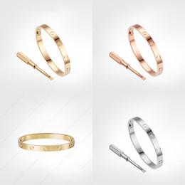 Wholesale love screw bracelet 5.0 designer classic mens gold bracelet 2020 luxury jewelry women Titanium steel Gold-Plated Never fade Not allergic -G