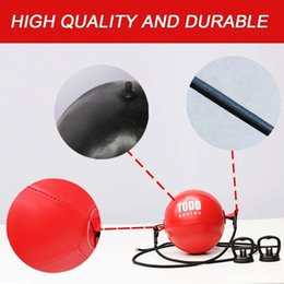 Wholesale Punching Balls Durable Dual Ended Bag Training Beginner Boxing MMA Speed Ball with Attack and Reflect Aerobics - Easy to install rain instantly Fitness Supplies
