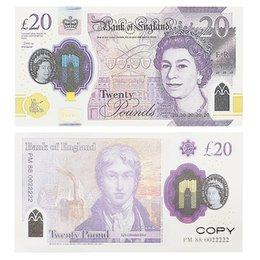 Toptan satış Kopyalama Baskılı Para Oyuncaklar İNGILTERE Pound GBP İngiliz 10 20 50 Hatıra Prop Para Oyuncak Çocuklar için Noel Hediyeleri veya Video Film