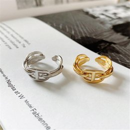 sterling silver nose rings Australia - POFUNUO Real 925 Sterling Silver Women French Style Unique Pig Nose Shape Niche Rings Girls Korean Style 18K Gold Buckle Rings