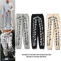 Wholesale camo sweatpants for sale - Group buy Kanye Mens Pants High Street Pants for Men Reflective Sweatpants Casual Mens Hip Hop Camo Streetwear Camo high quality With Box