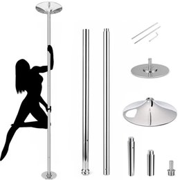 amzdeal Spinning Static Dance Stripper Pole Upgraded 45 mm Portable Removable Dancing Set for Beginner and Professional Stripper, Heavy-Duty, Load Over 400 lbs