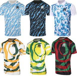 shirt train Australia - 21 22 Olympique de Marseille black blue PAYET BENEDETTO THAUVIN training suit 2021 2022 Marseille home away polo Football shirt kit