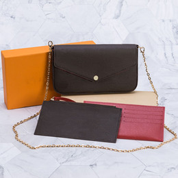 Top Quality 3pcs set Women Shoulder Bag Messenger Bag Chain Strap Cross Body bags Ladies Flap Purse Clutch Bags Totes With Box and Dust bag on Sale
