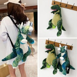 DHL Children Plush doll toy dinosaur backpack cute boy girl student holiday school study Comfortable soft Surprise Animal Bags Toys Gifts wholesale on Sale