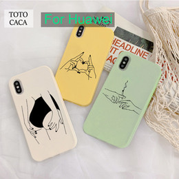 новая игра  оптовых-Sexy Line Art Love Finger Mobile Play Protection Soft Case для Huawei P20 P30 P40 Lite Plus Nova P40 Lite E Green желтый
