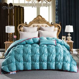 2021 New Third d Luxury Goose Down Quilted Eiderdown King Quilt Queen Size Complete Comforter Winter Blanket O1hx on Sale