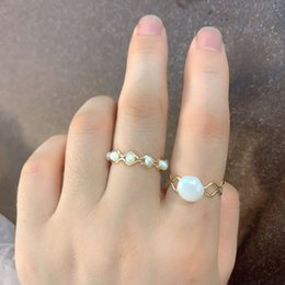 baroque rings NZ - French style natural freshwater pearl Baroque simple personality design sense index finger women's ring