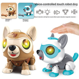 Venta al por mayor de Control de voz Smart Robot Dog Electronic Pet Touch Sensor Light Stem Montessori Juguetes para niños 2 a 4 años Regalo educativo