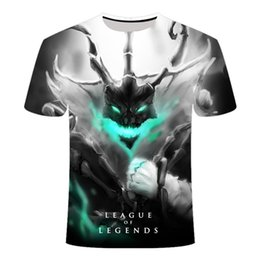 ingrosso league of legends magliette-2021 New Style Dark Style D League of Legends T Shirt Yasuo Jarvan IV Twisted Fate Twisted E Sports Team Abbigliamento da donna LOL T shirt L0223